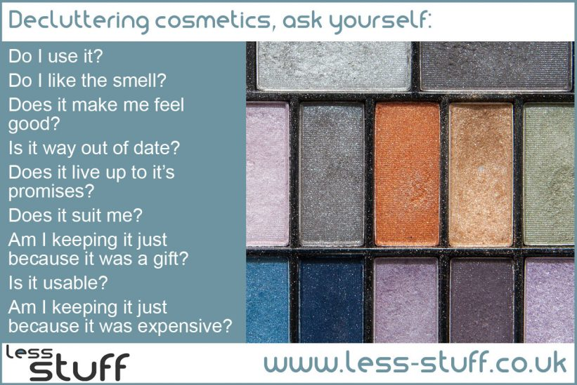 The easy way to declutter cosmetics