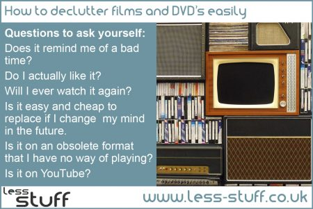 declutter films and dvds