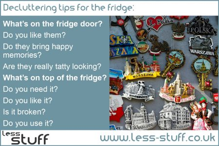 declutter the fridge