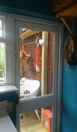 Drafty kitchen door before live lagom