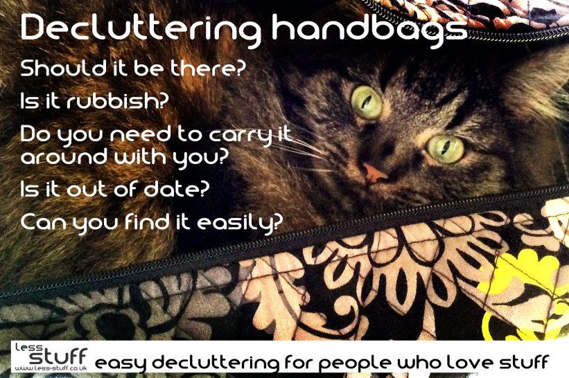 decluttering handbags