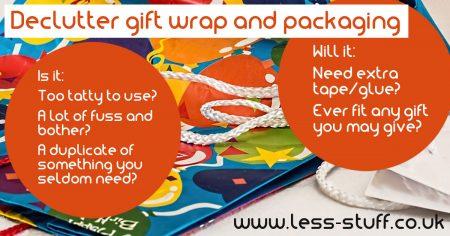 declutter gift wrap
