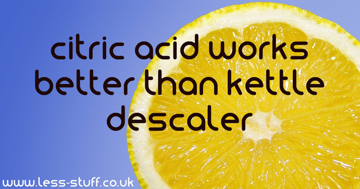 citric acid descaler
