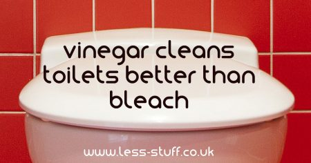 vinegar is better than bleach