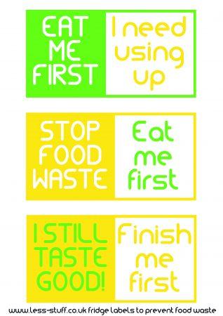 Food Waste Sticker