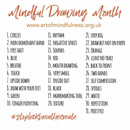 mindful drawing month