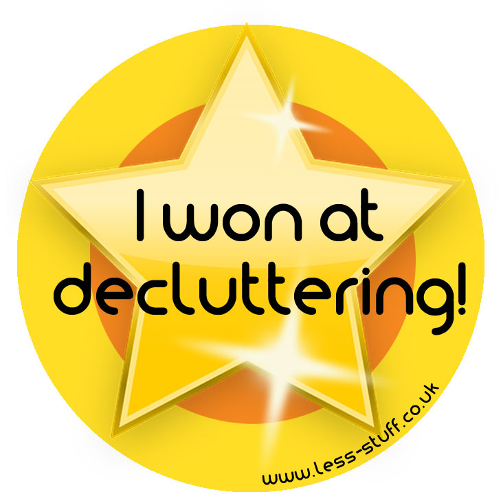 I won at decluttering