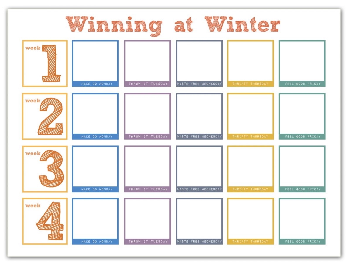 winning at winter calendar