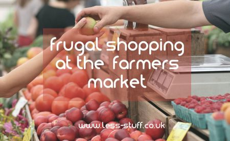 shop frugally at the farmers market