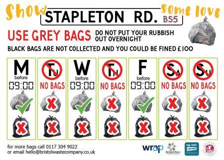 Stapleton Road Bin Rota