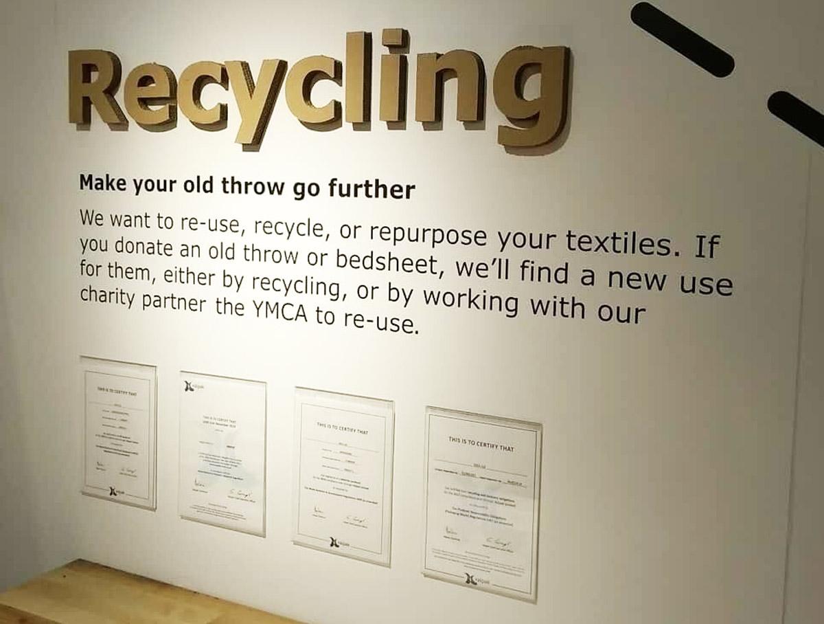 Ikea Textiles recycling bin