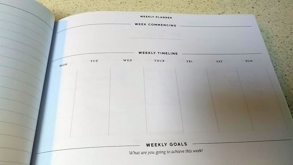 weekly goals effici