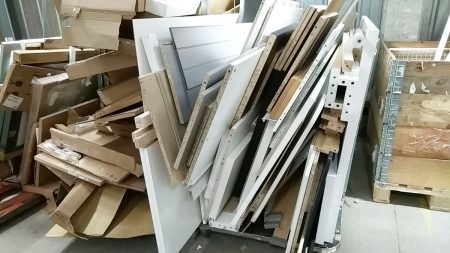 Scrap wood ready to be sent to the Sofa Project and Scrapstore