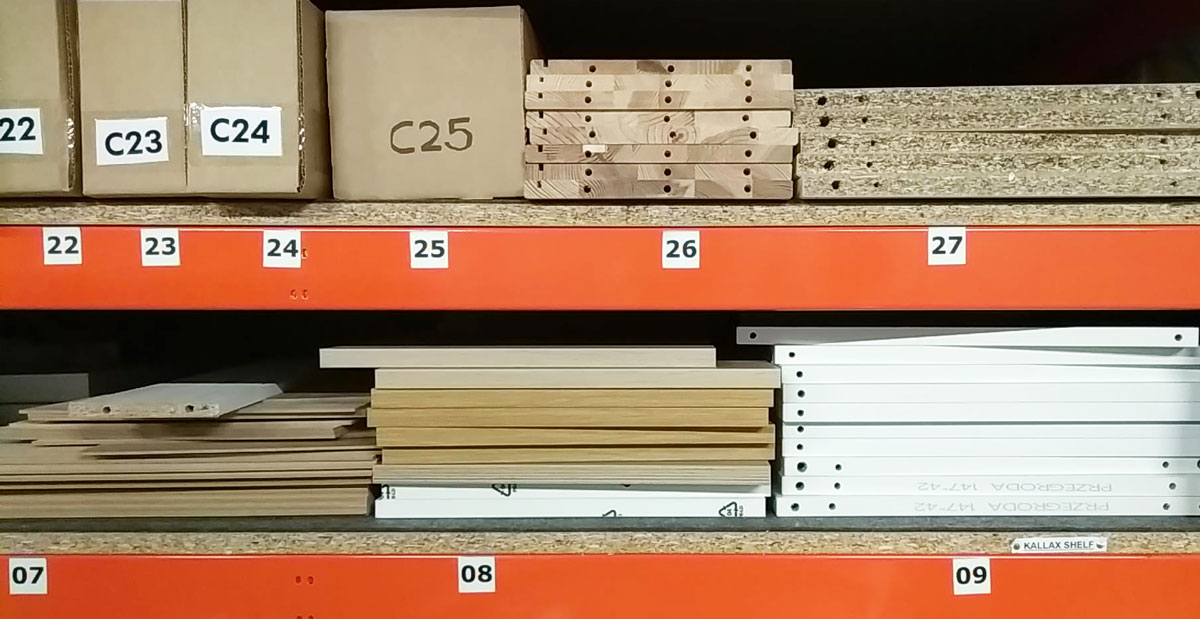 IKEA's spare parts library