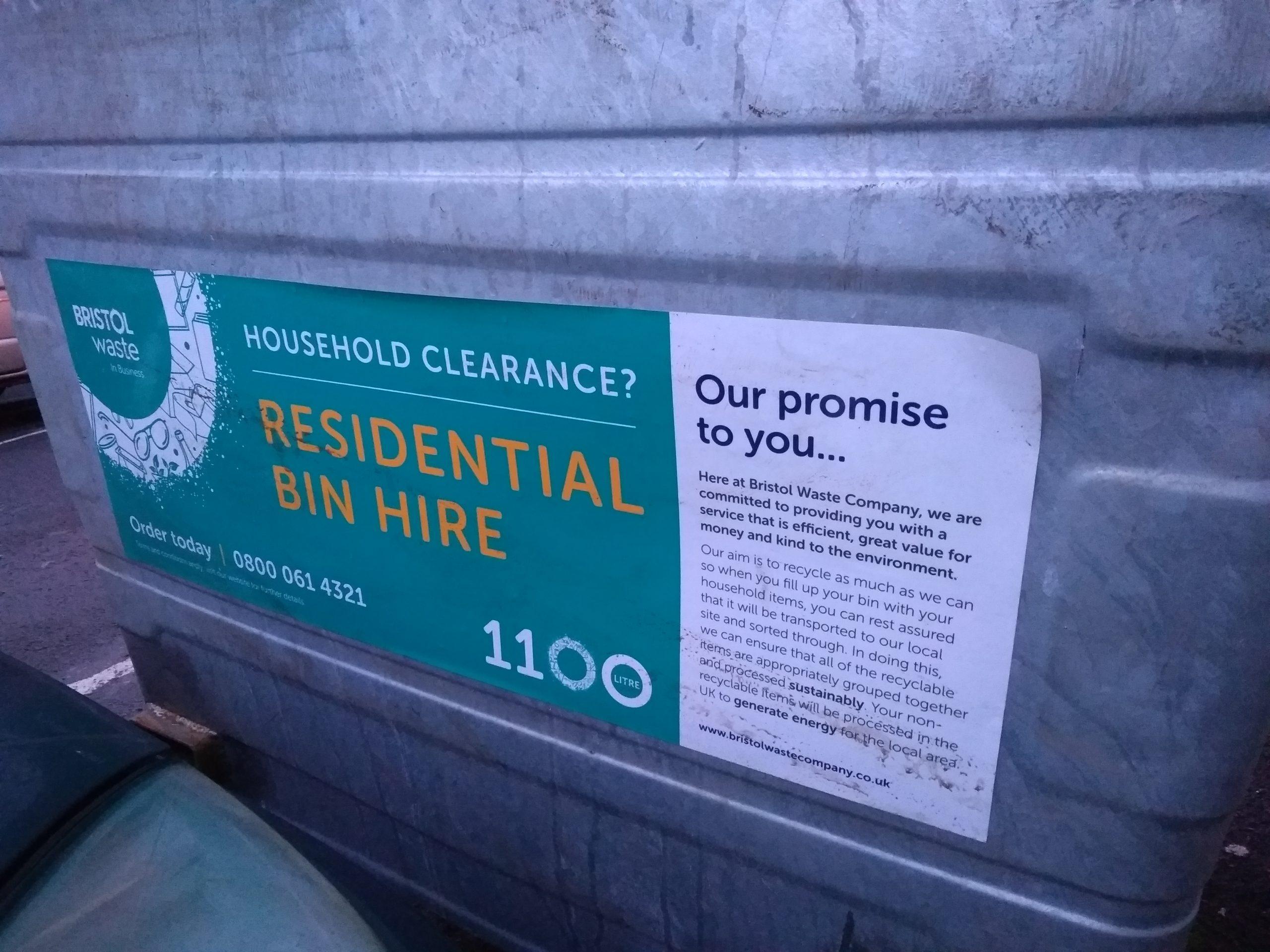 1100L Residential bins